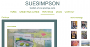Sue simpson website for artists by AlbanyWeb