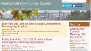 Murrayfield Community Council homepage by AlbanyWeb