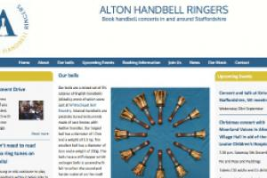 Informative page for Alton Handbell Ringers website by AlbanyWeb