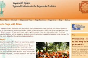 Yoga with Bijam yogawebs site by AlbanyWeb