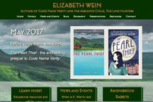 Refreshed website for Elizabeth Wein by AlbanyWeb