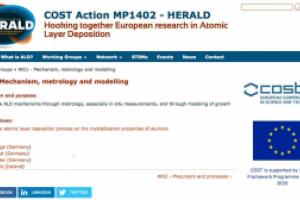 Page showing interlinked content on COST Action working group