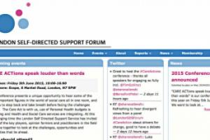 The London Self-Directed Support Forum website by AlbanyWeb.