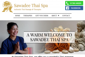 hompage for Sawadee Thai spa website by AlbanyWeb