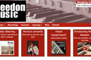 Weedon Music online music store home page