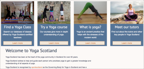 Yoga Scotland visual navigation