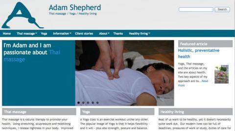 Adam Shepherd website by AlbanyWeb
