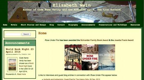 original Elizabeth Wein website by AlbanyWeb