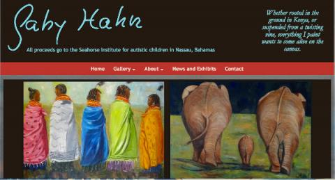 Gaby Hahn art homepage