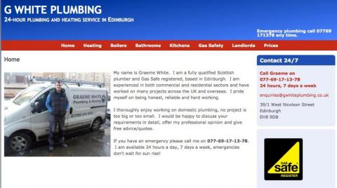 G white plumbing home page image