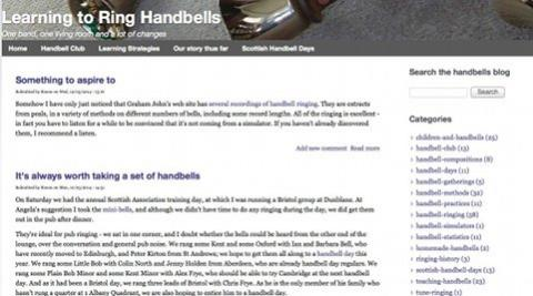 Learn to ring handbells blog by AlbanyWeb