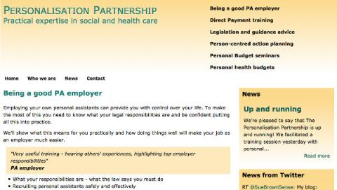 Personalisation partnership website by AlbanyWeb